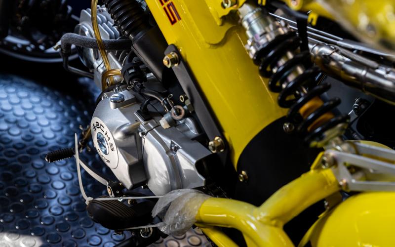 バイクのエンジン部分